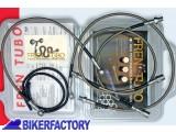 BikerFactory Kit tubi freno Frentubo tipo 1 con tubi e raccordi in acciaio per BMW K100RS 16V ABS %28%2792 %2793%29 FR07.1000171 1 1034107