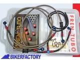BikerFactory Kit tubi freno Frentubo tipo 1 con tubi e raccordi in acciaio per BMW R 1100 S EVO ABS anno 2002 MANUBRIO BASSO 1024410