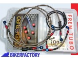 BikerFactory Kit tubi freno Frentubo tipo 1 con tubi e raccordi in acciaio per Ducati 748 996 998 1014950