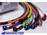 BikerFactory Kit tubi freno Frentubo tipo 1 con tubi e raccordi in acciaio per Ducati 996 %28%2799 %2702%29 998 %28%2702 %2704%29 1014987