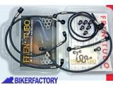 BikerFactory Kit tubi frizione frentubo tipo 4 con tubo in carbonio e raccordi in lega di alluminio per BMW R1200GS %28%2708 %2712%29 FR07.100053A 4 1026996