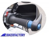 BikerFactory Bilanceri in lega leggera colore ARGENTO per mod. 4V con paramani 1001361