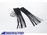BikerFactory Coppia di copri manopole in pelle con frange PW.00.550 600 1027670