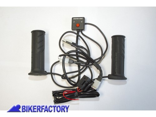 BikerFactory Kit manopole riscaldate KOSO per moto e scooter %5B%C3%9822mm lung. 121 mm%5D PW.00.315 607 1039867