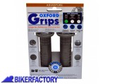 BikerFactory Manopole sostitutive per moto e scooter mod. OXFORD Adventure Soft per manubri %C3%9822 mm. OXF.00.OF640S 1026525