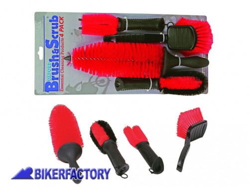 BikerFactory Kit spazzole OXFORD per pulizia e lavaggio moto scooter e quad OXF.00.OF607 1026760