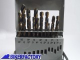 BikerFactory Set Punte trapano Professionali per metallo 19 pz da %C3%981 a %C3%9810 mm 8926 1019503
