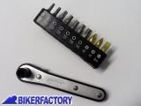 BikerFactory Set inserti Torx e cacciaviti con micro cricchetto reversibile. 5955 1019418