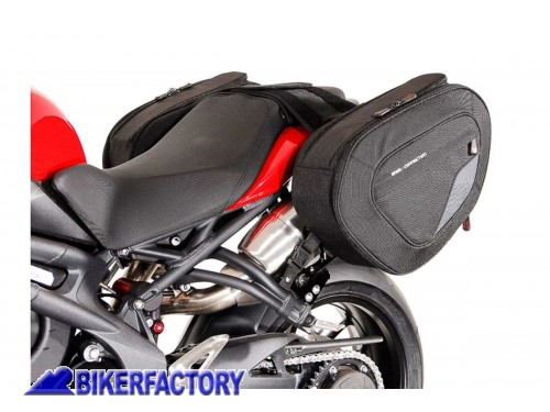 BikerFactory Kit borse laterali SW Motech Blaze H per TRIUMPH Speed Triple 1050 R %2810 15%29 BC.HTA.11.740.10101 B 1043476