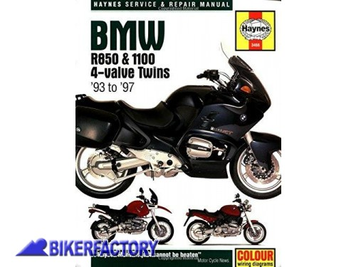 BikerFactory Libro  Manuale di riparazione %22BMW R850 and R1100 Twins %281993 97%29 Service and Repair Manual%22 Nuovo IN INGLESE 9781859604663 1043695