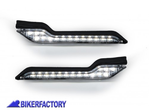 BikerFactory Luci di posizione a LED per paramani BARKBUSTERS LED 002 02 WH 1033495