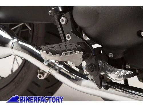 Iycorish Pedaliera per Moto Anteriore Pedane Poggiapiedi Larghe per Triumph Bonneville T100 T900 2001-2015