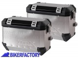 BikerFactory Coppia Borse laterali moto in alluminio TRAX colore argento %2A%2APROMOZIONE VALIDA FINO AD ESAURIMENTO SCORTE%2A%2A TRAX02K Promo 1024637