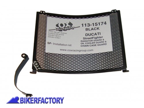 BikerFactory Griglia Protezione radiatore Cox Racing Group per Ducati Street Fighter COX22.113 15174 1019513