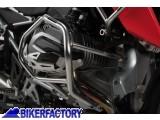 BikerFactory Protezione motore paracilindri tubolare SW Motech x BMW R 1200 GS LC in acciaio inossidabile micropallinato SBL.07.783.10100 1032356