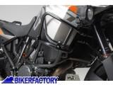 BikerFactory Protezione tubolare SW Motech per serbatoio carena COLORE NERO x KTM Adventure 1050 1190 SBL.04.338.10100 B 1032022