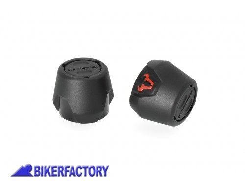 BikerFactory Tamponi paracolpi forcella anteriore SW Motech per BMW F 750 GS e F 850 GS Adventure STP.07.176.11501 B 1039491