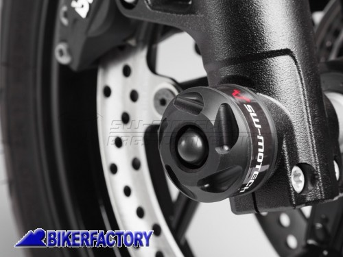 BikerFactory Tamponi paracolpi forcella anteriore SW Motech per BMW F 800 R %28%2712 in poi%29. STP.07.176.10600 B 1024341