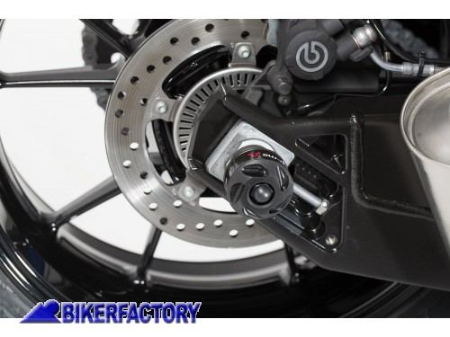 BikerFactory Tamponi paracolpi forcella posteriore SW Motech per BMW S 1000 R RR F 750 GS F 850 GS Adventure STP.07.176.10900 B 1029385