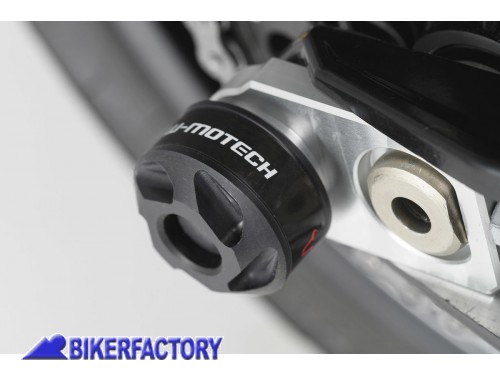BikerFactory Tamponi paracolpi forcella posteriore SW Motech per BMW e HUSQVARNA STP.07.176.10500 B 1024119