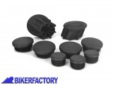 BikerFactory Kit tappi telaio PYRAMID in ABS colore nero opaco per BMW R 1200 GS R 1200 GS LC R 1200 GS LC Adventure BMW R 1250 GS PY07.089400 1036903