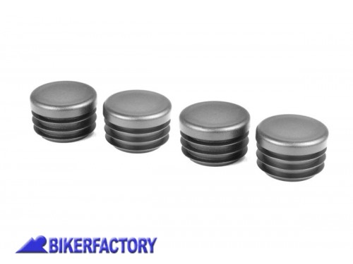 BikerFactory Kit tappi telaioo PYRAMID in ABS colore nero opaco per BMW R 1200 GS PY07.089406 1039625