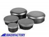 BikerFactory Kit tappi telaioo PYRAMID in ABS colore nero opaco per BMW R 1200 RT LC R 1250 RT PY07.089405 1039573