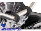 BikerFactory Conversioni manubrio SW Motech da %C3%98 22 mm %C3%98 28 mm alzano 20 mm colore nero LEH.00.039.160 B 1024593