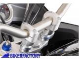BikerFactory Conversioni manubrio SW Motech da %C3%9822mm a %C3%9828mm alzano 20 mm colore argento LEH.00.039.160 S 1000248