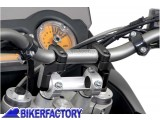 BikerFactory Prolunghe manubrio ad inclinazione variabile SW Motech per manubri %C3%9828 mm. 1002378