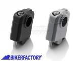 BikerFactory Prolunghe riser manubrio diritte SW Motech per manubri %C3%9822 mm alzano 30 mm con cappellotti 1024049