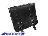 BikerFactory Borsa in pelle nera mod. POST PW.00.550 056 1027636
